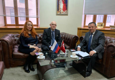 Meeting with the Chief trade Adviser of the Embassy of the Republic of Turkey Выделите текст, чтобы посмотреть примеры