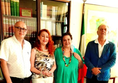 """Meeting of the organizing Committee of the International Children's Drawing Contest """"Humanity inside the war"""" at the Marinoni Secondary School"""